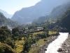 Photo prise lors de l\'étape 2 du trek du tour du Dhaulagiri