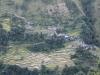 Vu sur un village de la montagne en face